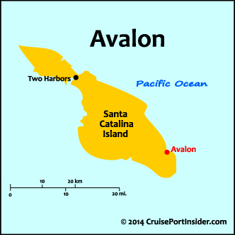 Avalon/Catalina Map