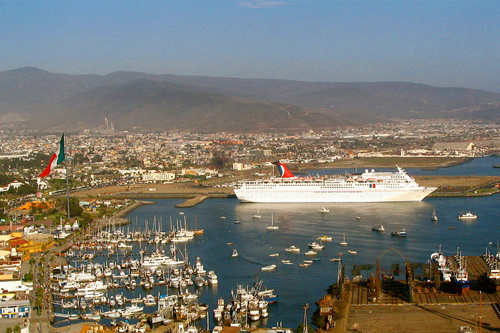 Carnival ship in port