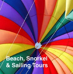 Beach Sailing and snorkel tours
