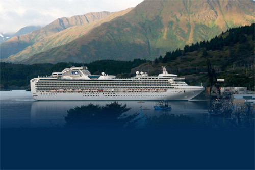 Princess ship in Kodiak