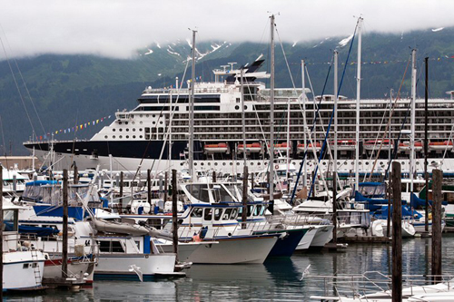Cruise ship in Seward