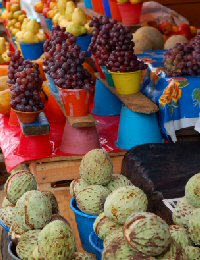 Grapes in Chiapas Market