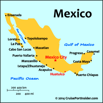 Huatulco map