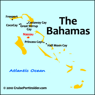 Nassau Bahamas map