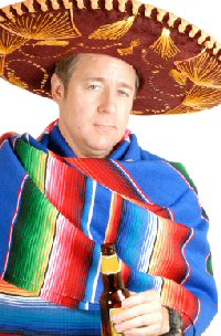 Man in serape